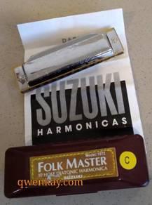 Harmonica 10 Holes Suzuki Folk Master