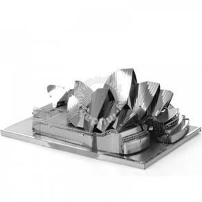 3D Nano Steel Laser Cut Puzzle -Sydney Opera House