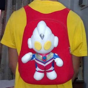Cute ULTRAMAN Soft Plush Toy Backpack bag