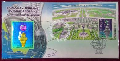 1998 FDC KL International Airport Niobium Stamp
