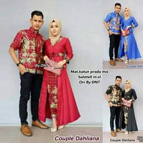 Muslimah Set kebaya Batik Sedondon Dahliana couple