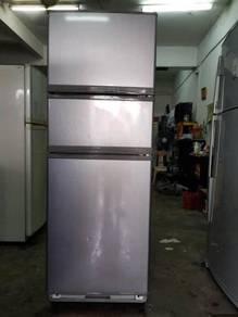 Ice Peti Grey Elba 3 Pintu Doors Refrigerator Ais