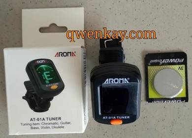 Aroma Clip On Tuner LCD AT-01A