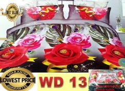 Cadar set 7 in 1 wd flower / with comforter