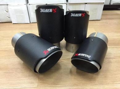 Akrapovic Carbon Fiber Exhaust Tail Pipe Tip New