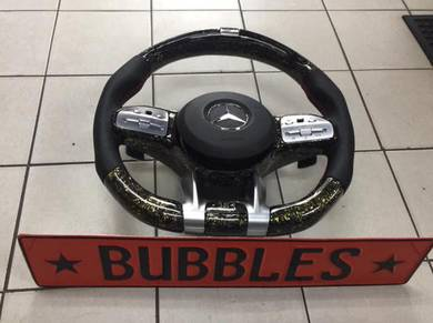 Mercedes w222 electronic led dry carbon steering