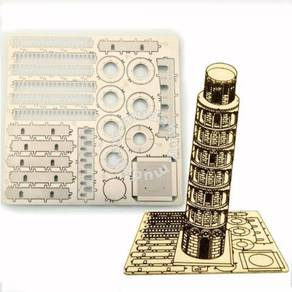 3D Nano Steel Laser Cut Puzzle - Tower of Pisa
