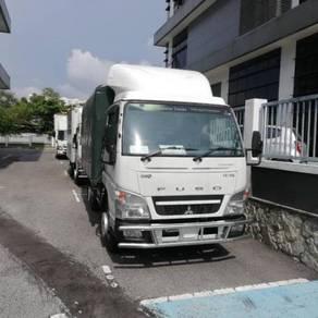 Lori Baru Kayu Rasak Mitsubishi Fuso 1 ton kanvas