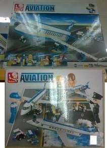 Kids Education Toys Aero Plane Lego ( Kapal Terban