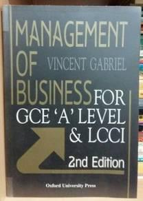 Management of Business by Vincent Gabriel