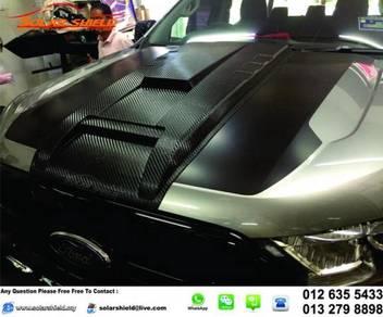 Ford Ranger Bonnet Scoop Carbone