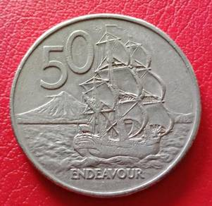 New Zealand 50 Cents 1980