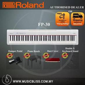 Roland FP-30 Digital Piano Musician Package White