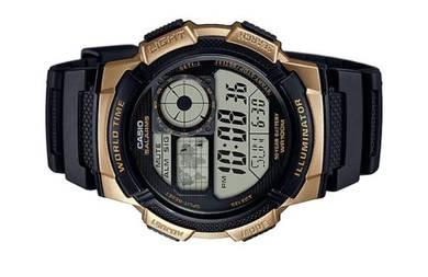 Casio World Time 10 Years Batt. Watch AE-1000W-1A3