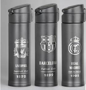 Football club - real madrid FCB liverpool bottle