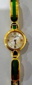 Jam Casa Blanca Paris gold jade watch