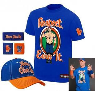 WWE WWF John Cena Earn Respect Set 2017 Topi Band