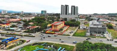 3 Storey Roadside Building with Ready Business in Towering, Penampang