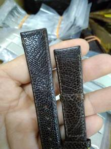 Vintage 18mm ostrich leather watch strap