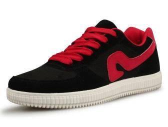 F0244 Black Trendy Sneakers Skater Men Kasut Shoes