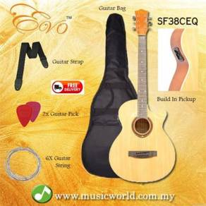 Evo sf38ceq natural acoustic guitar with pickup