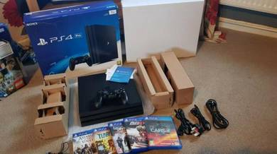 PS4 Pro 1TB Game Console - Black - Controller