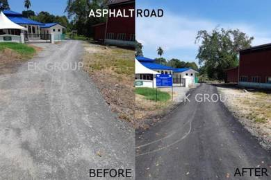 KK Road asphalt pothole gravel jalan raya turap