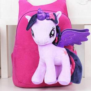 Cute MY LITTLE PONY Soft Plush Toy Backpack bag-DP