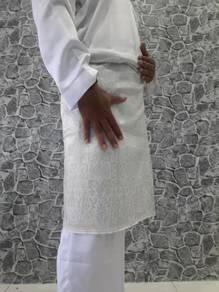 Sampinn niqah putih sulam silver 2meter X 32inch