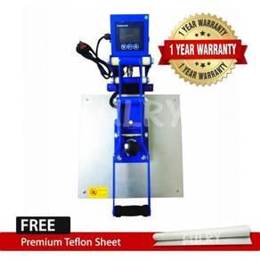 Heat Press Machine Blue Silver 38x38cm