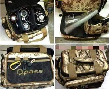 Opass V4 Fishing Reel Sling Bag Mesin Pancing Beg