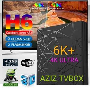 Android tv box NEWEST OS 9.0 pie 6k plus HD
