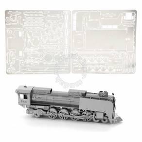 3D Nano Steel Laser Cut Puzzle - Steam Locomotive