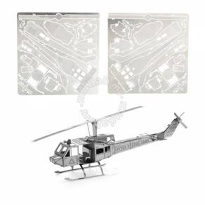 3D Nano Steel Laser Cut Puzzle - Huey Helicopter