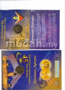 Commemorative coin card set merdeka 45