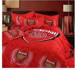 Arsenal bed mattress and pillow