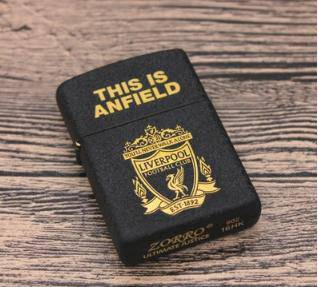 Football club - liverpool lighter black hitam