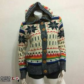 Blue moon blue native jacket sweater knitted hoodi