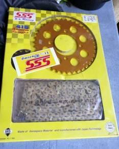 Sprocket SSS 415 & Hub Sprocket Gold for 125z/zr
