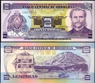 Honduras 2 lempiras unc