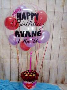 Box Balloon with clear balloon mantin