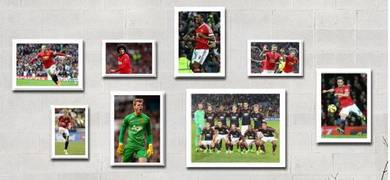 Football club - man utd poster david beckham team
