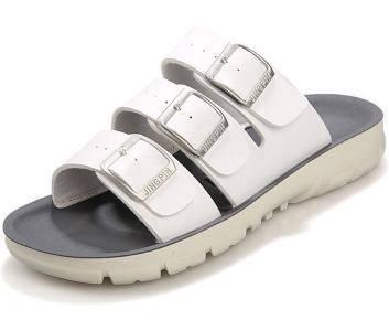 F0235 White Korea Sandal Buckle Casual Kasut Shoes