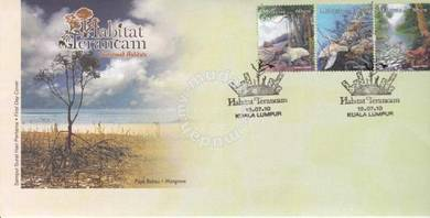 First Day Cover Threaten Habitat Malaysia 2010