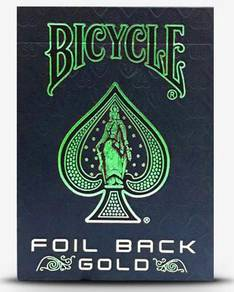 Bicycle Green Foil Back Poker Playing Card