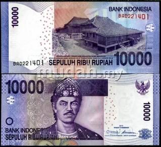 Indonesia 10000 rupiah 2010 p new design unc