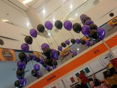 Single line arch + bunch balloon