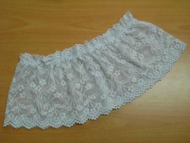 L1546-1 Sexy Sheer White Top Mini Skirt