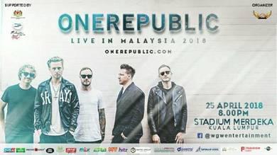 OneRepublic - Live In Malaysia 2018