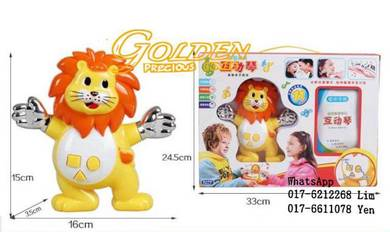 Body sensor game player induction toy musical lion
